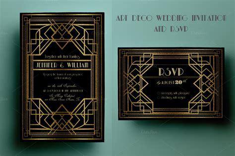 deco invitation templates deco wedding invitation and rsvp invitation