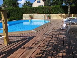 Bois Pour Terrasse Piscine : terrasse bois autour d une piscine octogonale nos conseils ~ Edinachiropracticcenter.com Idées de Décoration