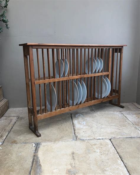 large victorian pine country house plate rack holds  plates  plate racks
