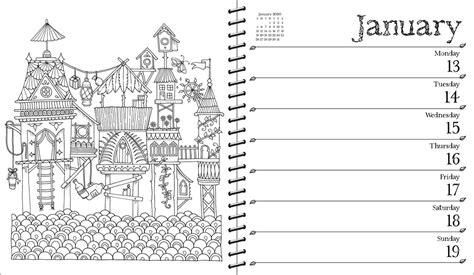 johanna basford weekly coloring planner calendar