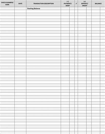 Register Printable Check Pdf Ledger Blank Transaction