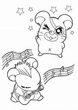 Coloring Hamtaro Pages Tv Anime Picgifs sketch template