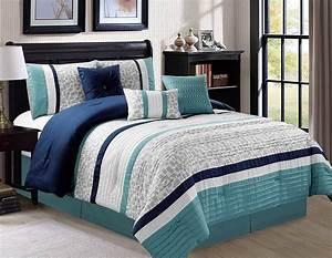 Hgmart, Bedding, Comforter, Set, 7, Piece, Luxury, Striped