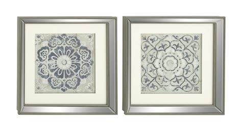 mistana polystone mirror framed wall art set reviews