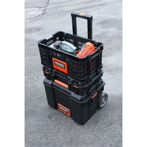 9 pull out organizer new ridgid 22 quot pro tool storage box add on crate tool craze