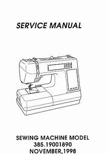 Kenmore 38519001890 User Manual Sewing Machine Manuals And