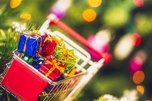 Shopping, Cart, Filled, With, Christmas, Gifts