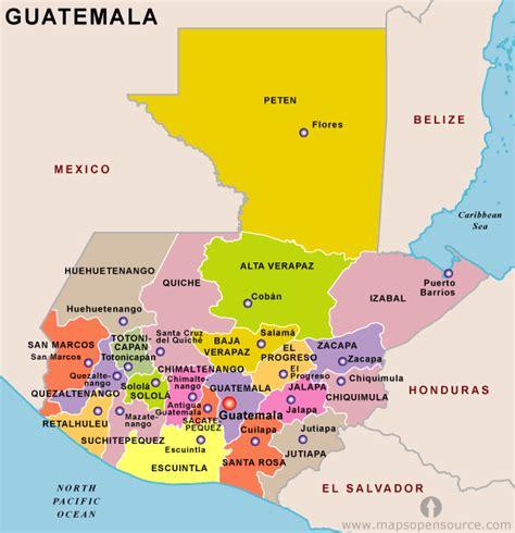 guatemala map toursmapscom
