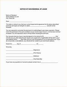 tenancy agreement notice letter example fresh lease With renewal of tenancy agreement letter template