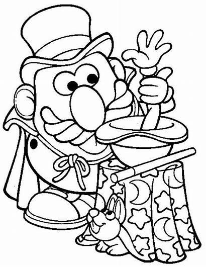 Coloring Magic Pages Potato Mr Head Magician