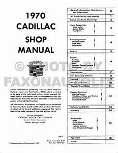 1970 Cadillac Repair Shop Manual Reprint
