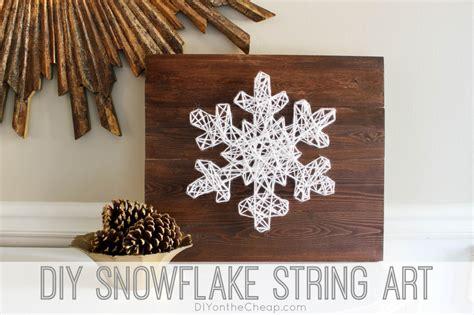 diy snowflake string art  easy  build christmas