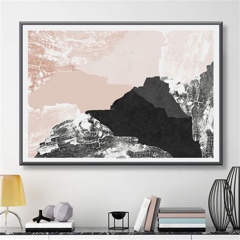 large abstract wall art print minimalist print modern