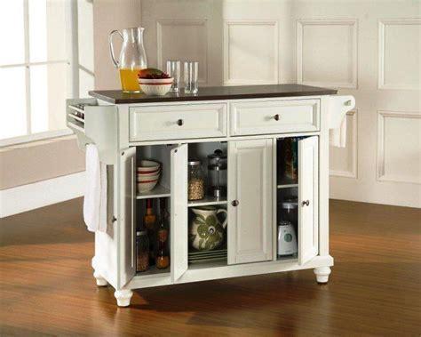 Portable Kitchen Island Using Under Cabinet ? Cabinets