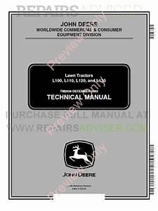 John Deere L100 L110 L120 L130 Lawn Tractors Technical
