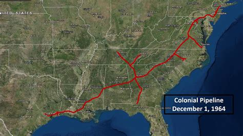 colonial pipeline construction timeline map youtube