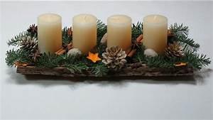 Adventskranz Länglich Selber Machen : dekoration f r weihnachten selber basteln adventskranz in einer baumrinde schnell und einfach ~ Eleganceandgraceweddings.com Haus und Dekorationen