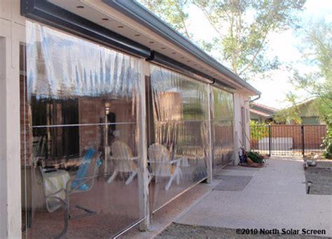grande clear vinyl heavy duty outdoor shades solar