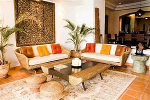 1001 idees deco ethnique inspiration et exotisme With tapis ethnique avec canapé tissu imprimé