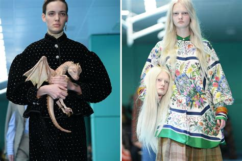 gucci fashion show outrageous instyle