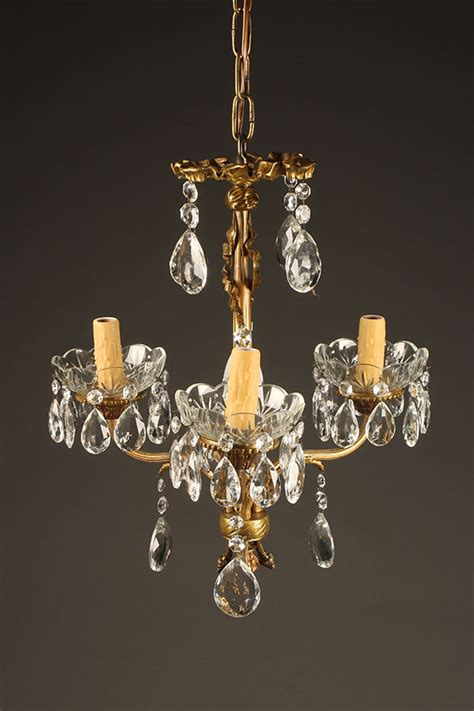 antique bronze and chandelier