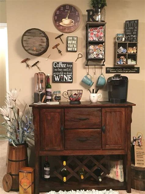 Ideas para decorar tu hogar: (For All Coffee Lovers) 20+ Charming Coffee Station Ideas to Steal Everybody's Attention