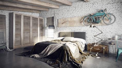 chambre avec mur en chambre avec mur en brique peint en blanc