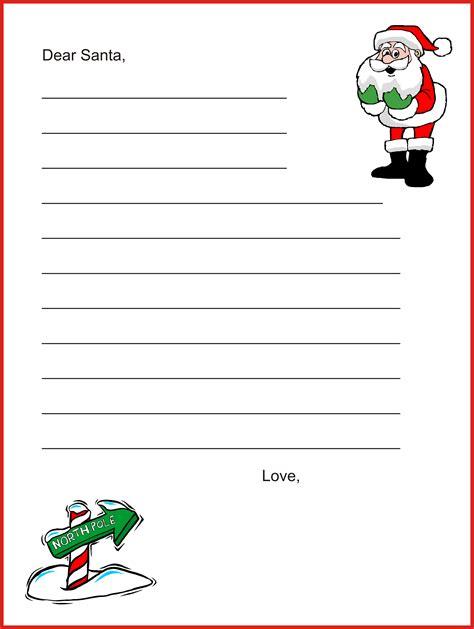 dear santa letter template christmas letter tipscom