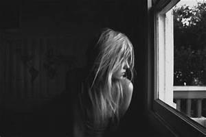 black and white, bw, girl, window, sad - image #771551 on ...