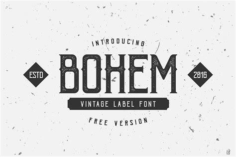 bohem typeface befontscom