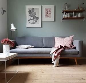 Salon Gris Et Rose : plus de 70 exemples d co pour adopter l ind modable vert ~ Melissatoandfro.com Idées de Décoration