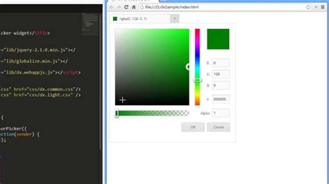 html5 colors devexpress devextreme html5 color picker