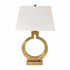 brass ring table lamp serena lily home pinterest With cole brass floor lamp serena and lily