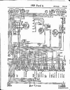 1959 Ford 6 Cylinder Wiring Diagram  59517