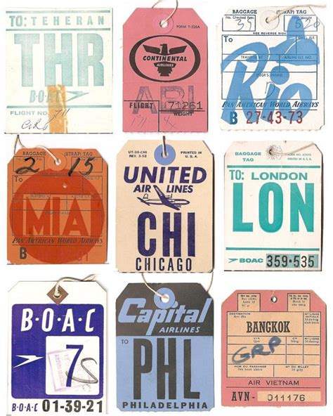 Airline Luggage Tag Template Images Template Design Ideas Best 25 Vintage Luggage Tags Ideas On