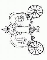 Coloring Cinderella Carriage Pumpkin Template Pdf Clip Sketch Library sketch template