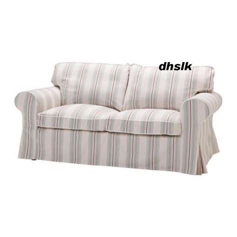 pink slipcover chair ikea ektorp 2 seat sofa cover sigsta pink stripes bezug