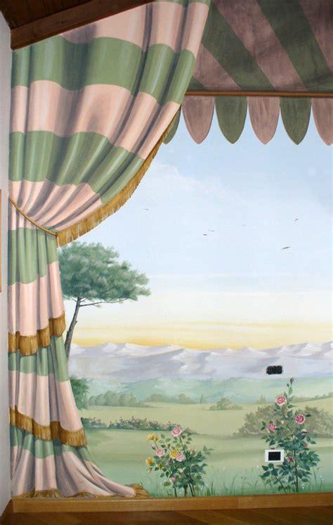 si e social l oeil foto trompe l 39 oeil tendaggio con giardino di domus aurea
