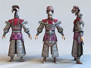 ancient, chinese, warrior, 3d, model, 3ds, max, files, free