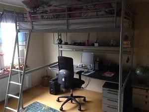 Ikea Jugendzimmer Möbel : hochbett ikea 140x200 incl matratze schreibtisch regal beleuchtung in spechbach kinder ~ Sanjose-hotels-ca.com Haus und Dekorationen