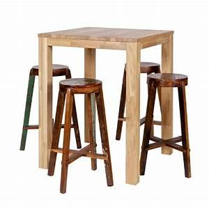 Table Haute Maison Du Monde : stunning table haute table de bar en chne massif naturel ~ Farleysfitness.com Idées de Décoration