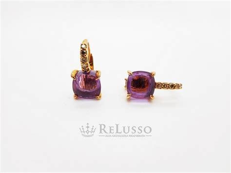 orecchini pomellato prezzo orecchini baby pomellato in oro rosa ametista e diamanti