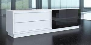 Meuble Tv Haut : de conti stile 2 blanc meubles tv de conti sur easylounge ~ Teatrodelosmanantiales.com Idées de Décoration