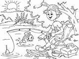 Fishing Coloring Coloringpages4u sketch template