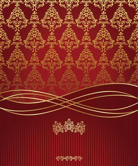 vintage gold pattern invitation card valentine card background