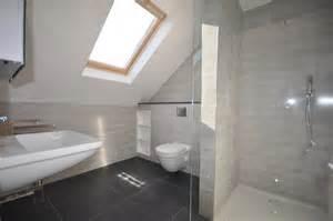 home extension loft conversion refurbishment contemporary bathroom by ashville inc - Loft Conversion Bathroom Ideas