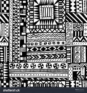 Black White Tribal African Seamless Pattern Stock Vector ...