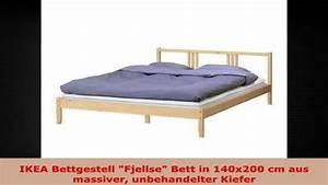 Bett 140x200 Ikea : ikea bettgestell fjellse bett in 140x200 cm aus massiver unbehandelter kiefer youtube ~ Udekor.club Haus und Dekorationen