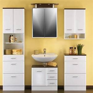 Badezimmerschrank Hochglanz Weiß : badezimmerschrank nina in hochglanz wei mit drei schubladen ~ Indierocktalk.com Haus und Dekorationen