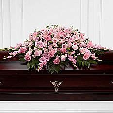 sweetly rest casket spray flowers for